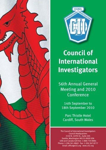 2010 Program - Council of International Investigators