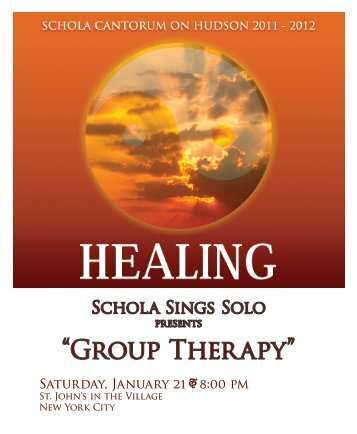 """Group Therapy"" - Schola Cantorum on Hudson"