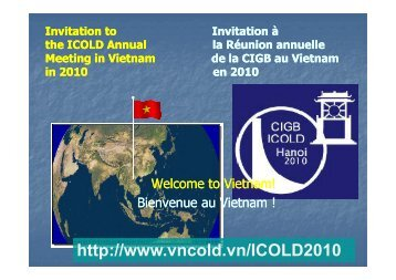 the icold meeting!