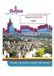 Rapport d'activités 2009 - Oullins centre-ville - blogSpirit