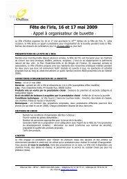 Appel a buvette Iris 2009 - Oullins centre-ville