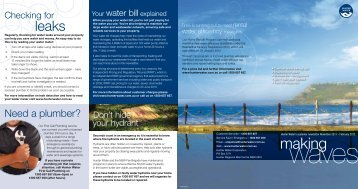 Making Waves Customer Newsletter - November 2011 - Hunter Water