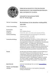 Revisionismus in der deutschen Außenpolitik, 1919-1990