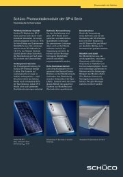 Schüco Photovoltaikmodule der SP-4 Serie - FL200.com