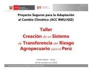 Presentacion Taller de Actores. - Proyecto de Seguros para la ...
