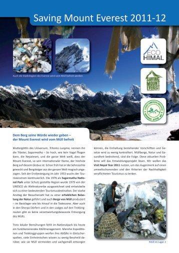 Saving Mount Everest 2011-12