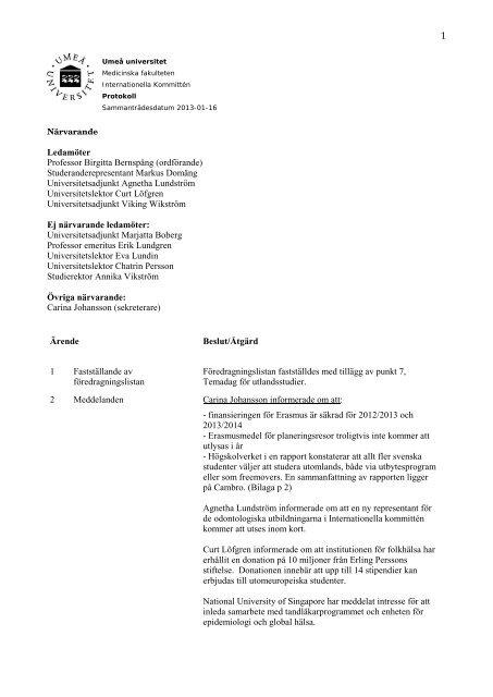 535b10266 2013-01-16 - Medicinsk fakultet - Umeå universitet