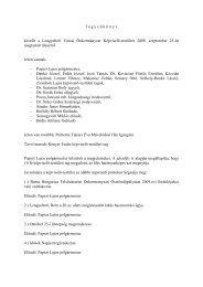 Jegyzőkönyv a Képviselő-testület 2008. 09. 25-én megtartott üléséről