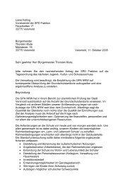 Antrag zur Analyse der Grundschulen /-standorte - SPD-Ortsverein ...
