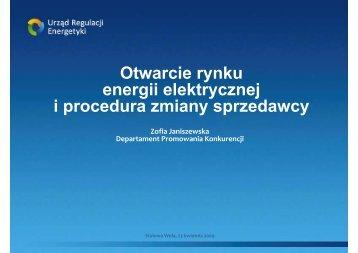 Otwarcie rynku energii elektrycznej i procedura zmiany sprzedawcy