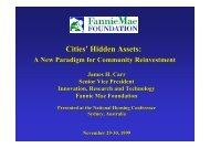 Cities' Hidden Assets - National Housing Conference