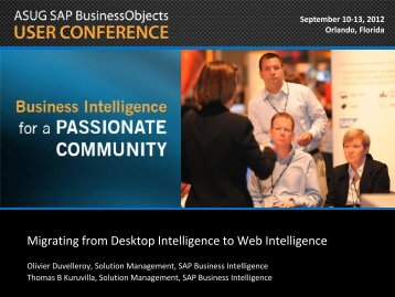 Migrating from Desktop Intelligence to Web Intelligence
