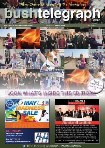 16th May 2013 - The Bush Telegraph Weekly