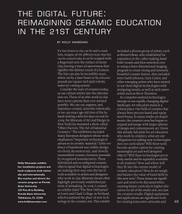 the digital future: reimagining ceramic education in ... - Studio Potter