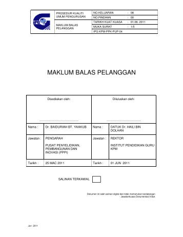 IPG KPM-PPK-PUP-04 - Laman Web Rasmi IPGM Kampus ...