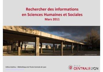 Rechercher des informations en Sciences humaines et sociales ...