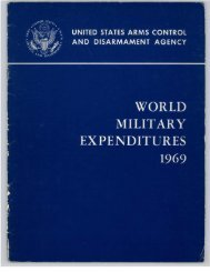 World Military Expenditures 1969  - US Department of State