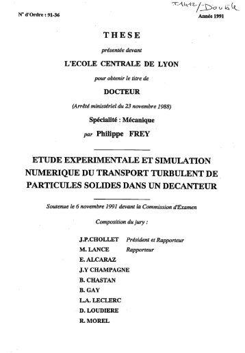 Etude expériementale et simulation numérique du transport ...