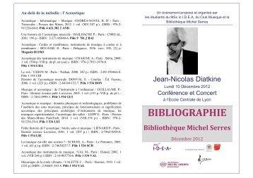 sélection de documents - Bibliothèque Ecole Centrale Lyon