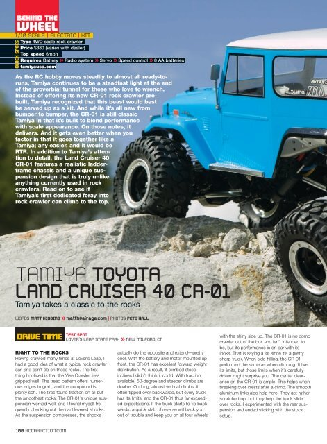 TAMIYA TOYOTA LAND CRUISER 40 CR-01 - RC Car Action