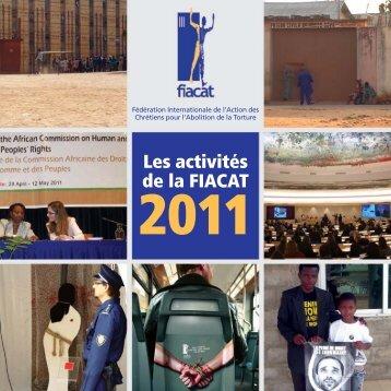 Rapport d'activités de la FIACAT - 2011