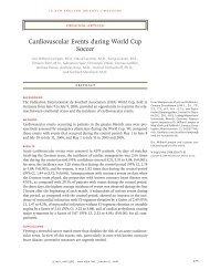 Cardiovascular Events during World Cup Soccer - Institut für Statistik
