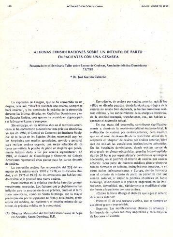 ALGUNAS 'CONSIDE~ACIONES SOBRE UN INTENTO DE PARTO ...