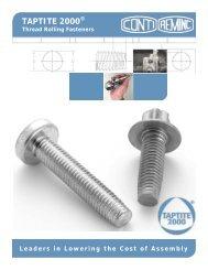 TAPTITE 2000® Fastener Brochure - reminc CONTI
