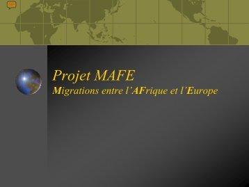Programme MAFE Migrations entre l'AFrique et l'Europe - Ined