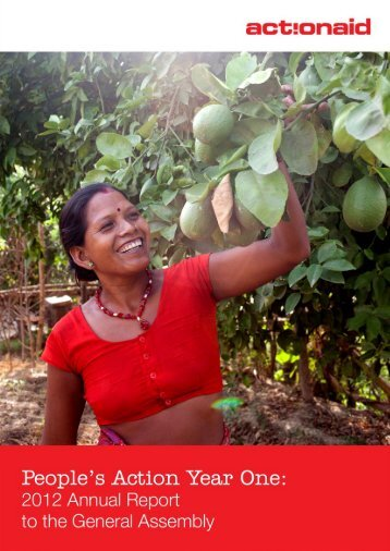2012 Annual Report to the General Assembly - ActionAid International