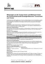 Weisungen an die Turner/-innen und Betreuer ... - SVL Lengnau