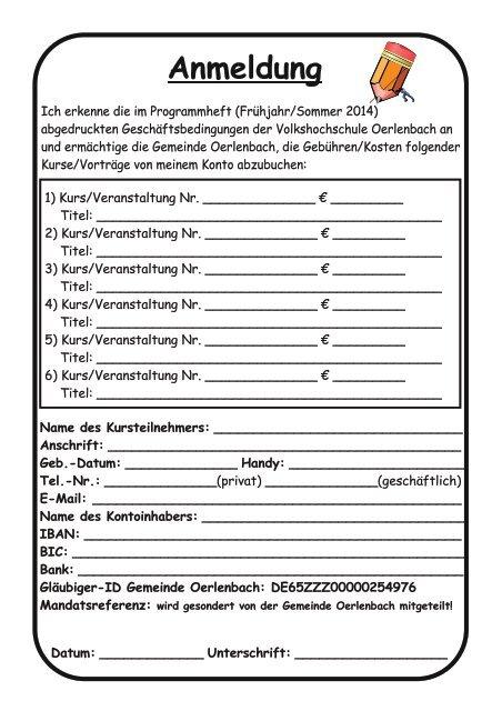 Programmheft - Oerlenbach