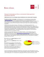 Solvency II Konsultationen führen zu strukturellen Änderungen beim ...