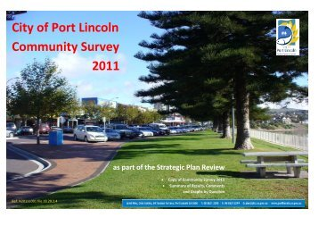Community Survey Results - City of Port Lincoln