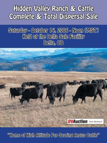 Hidden Valley Ranch & Cattle Complete & Total ... - Angus Journal
