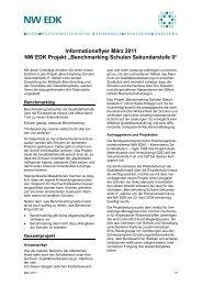 Informationsdossier: Befragungen Schulen Sek II - NW EDK