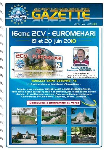 16ème 2CV - EUROMEHARI - Mehari 2 CV Club