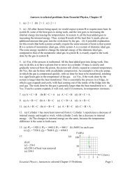 Answers to selected problems from Essential Physics, Chapter 16
