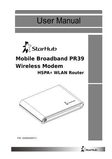 PR39 Wireless Modem Management .................................... 17 - StarHub