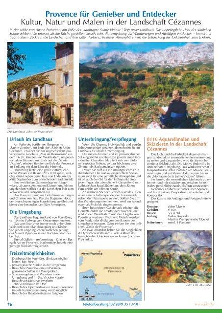 Provence für Genießer und Entdecker Kultur, Natur ... - SKR Reisen