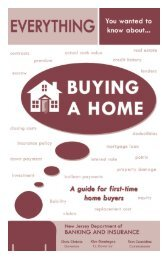 Steps to Buying a Home - State of New Jersey