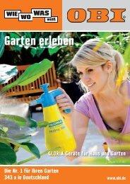 Garten erleben - Obi