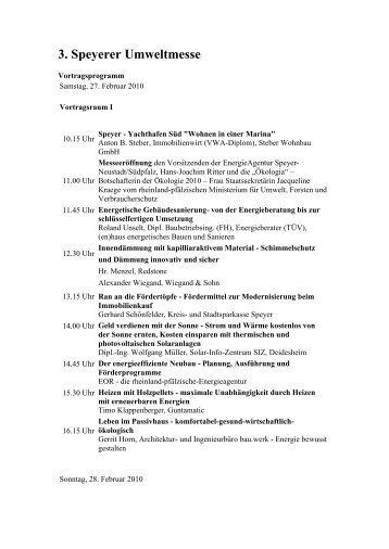 3. Speyerer Umweltmesse - aktionswoche-wohnen