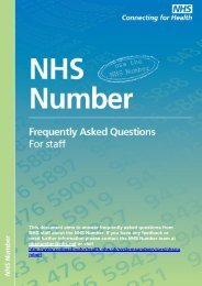 NHS Number FAQs - Systems