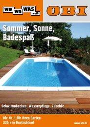 Sommer, Sonne, Badespaß - Obi