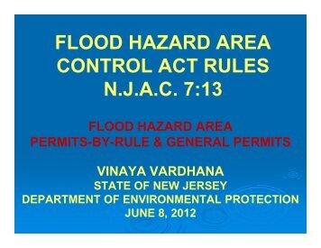 (NJAC 7:13-7.2(a)). - State of New Jersey