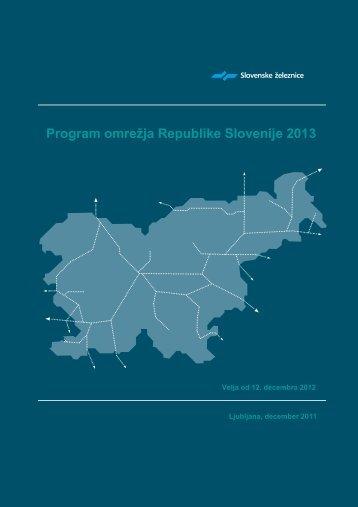 Program omrežja RS 2013