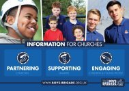 'Information for Churches' booklet - The Boys' Brigade