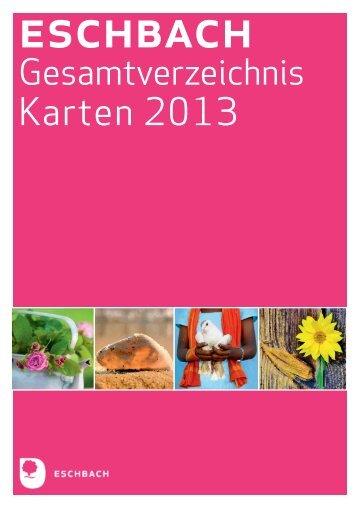 Gesamtverzeichnis Karten 2013 - Verlag am Eschbach