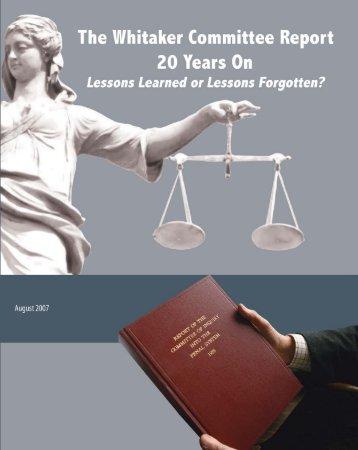 Whitaker Report 2007 - The John Howard Society of Canada